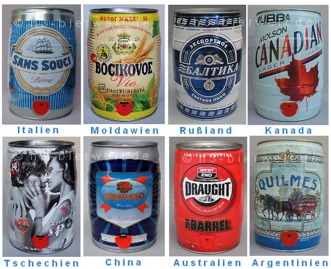 apropos ausland auf allen 5 kontinenten werden partys gefeiert und das bier dazu kommt auch aus partydosen ein paar beispiele aus dem hobbymuseum rechts - Werbetrager Beispiele